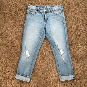 GAP Distressed Girlfriend Crop Ankle Jeans size 8